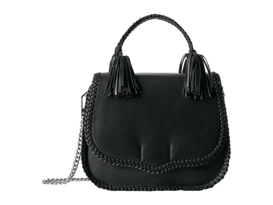 Rebecca Minkoff - Chase Large Saddle Bag (Black) Handbags