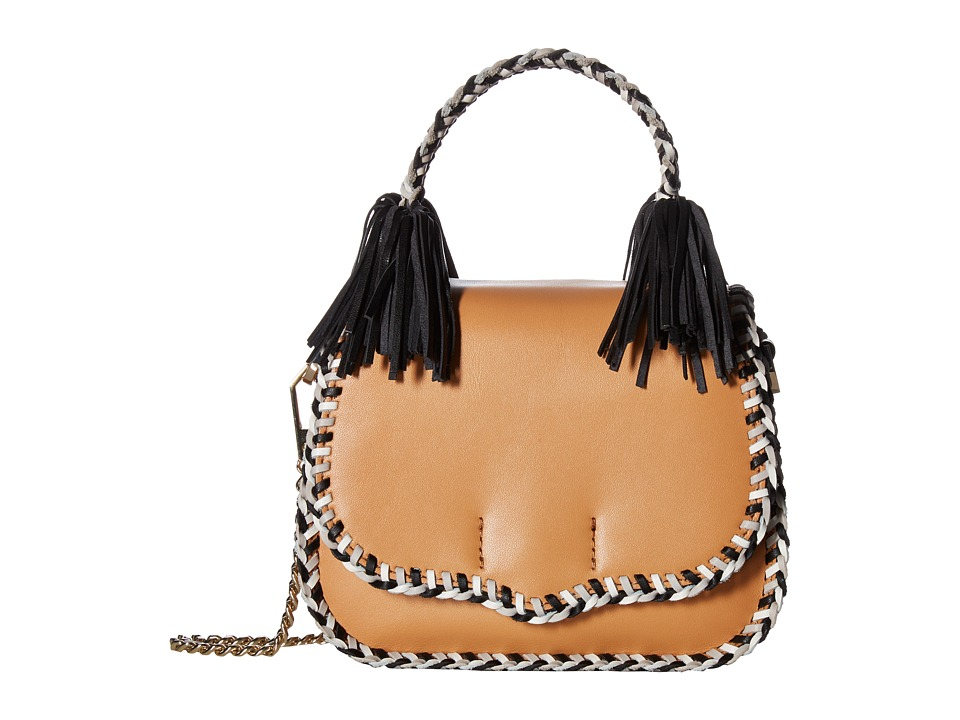 Rebecca Minkoff - Chase Medium Saddle Bag (Sand Multi) Handbags