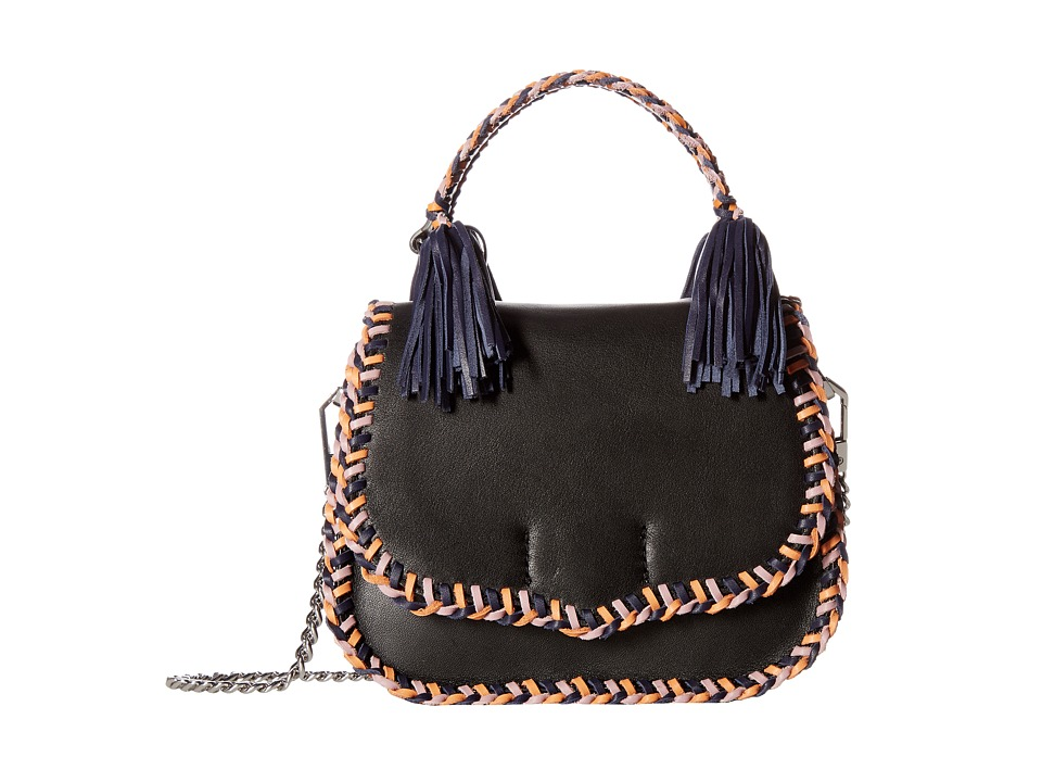 Rebecca Minkoff - Chase Medium Saddle Bag (Black Multi) Handbags