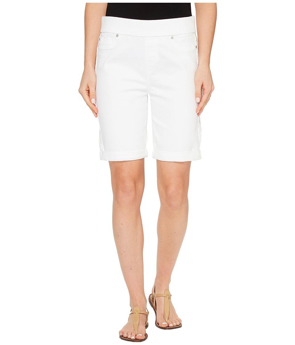 Liverpool - Sienna Pull-On Rolled-Cuff Bermuda Slub Stretch Twill in Bright White (Bright White) Women's Shorts