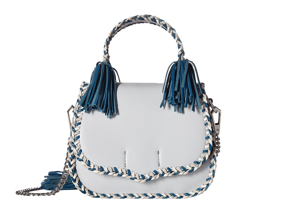 Rebecca Minkoff - Chase Medium Saddle Bag (Ice Blue Multi) Handbags
