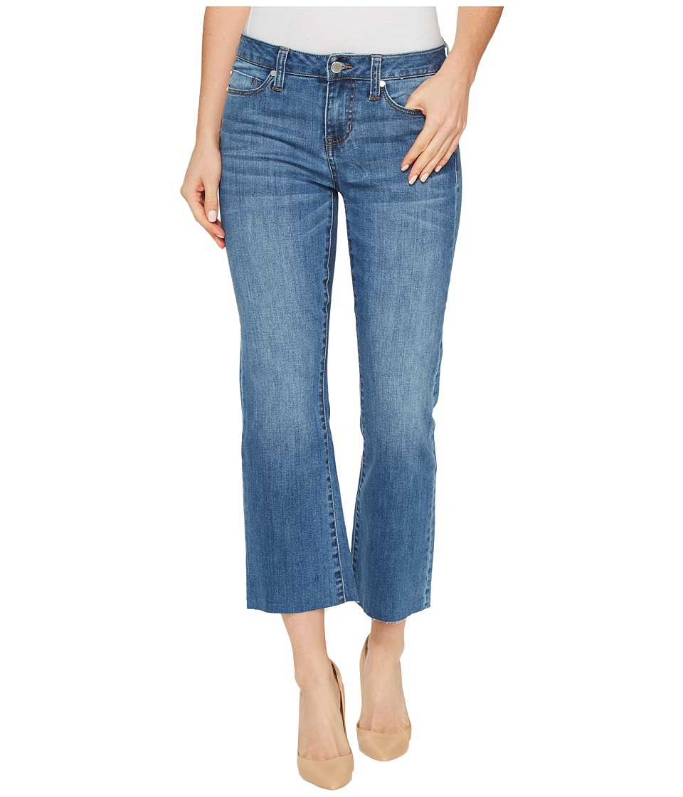 Liverpool - Hannah Cropped Raw Hem Flare on Vintage Super Comfort Stretch Denim in Claremont Light (Claremont Light) Women's Jeans