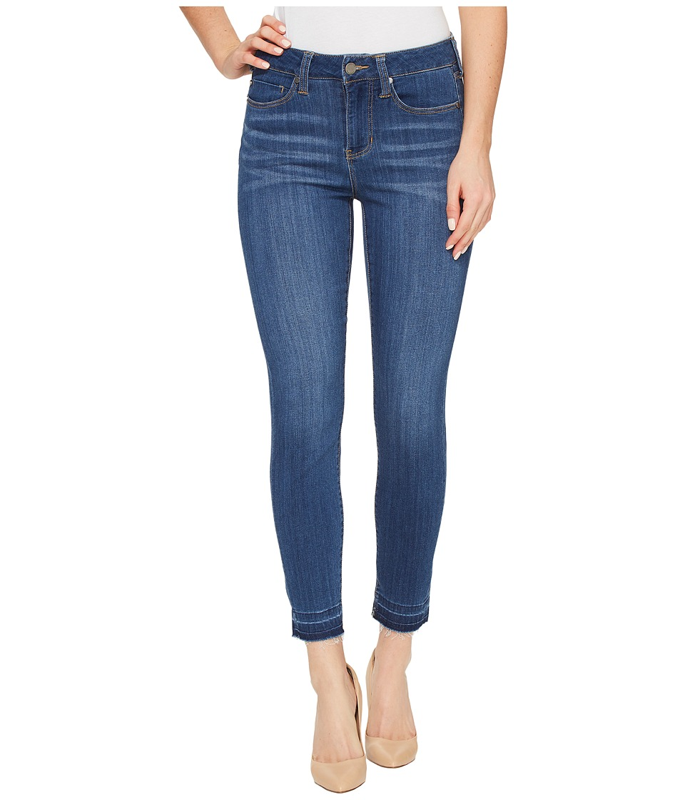 Liverpool - Avery Crop with Released Hem on Silky Soft Denim in Coronado Mid (Coronado Mid) Women's Jeans