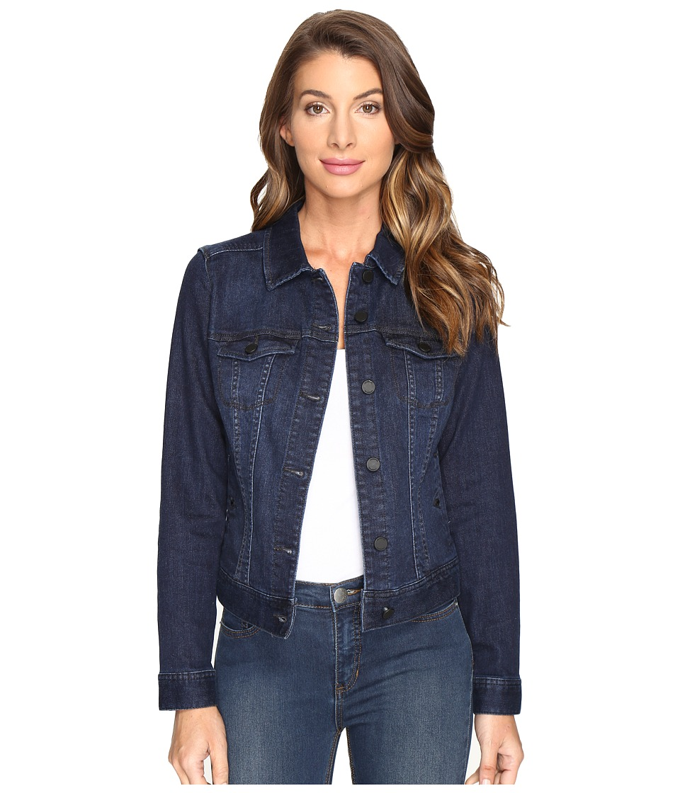 Liverpool - Classic Denim Jacket in Vintage Super Comfort Stretch Denim (Vintage Super Dark) Women's Coat