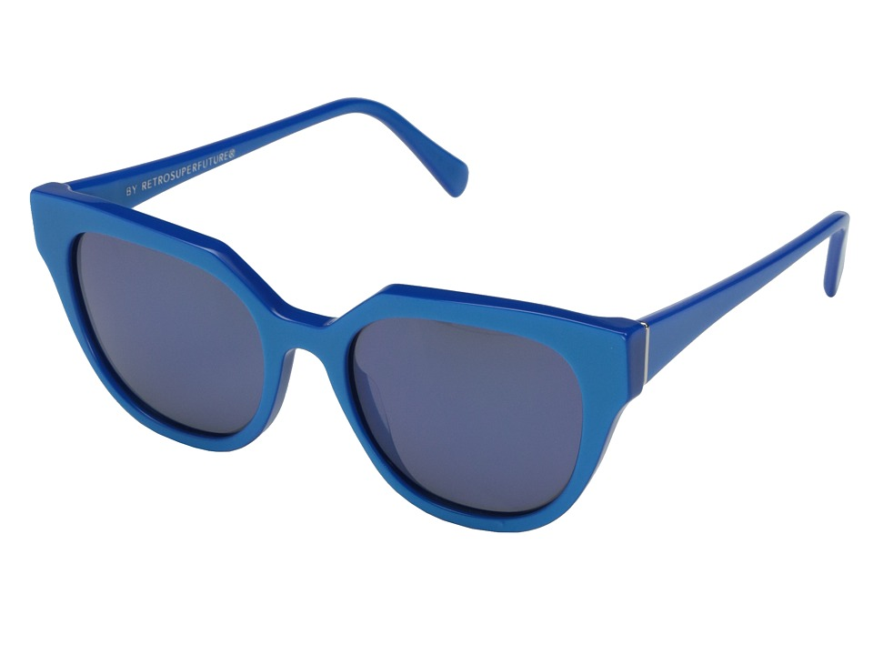 Super - Zizza 53mm (Matte Blue/Blue) Fashion Sunglasses