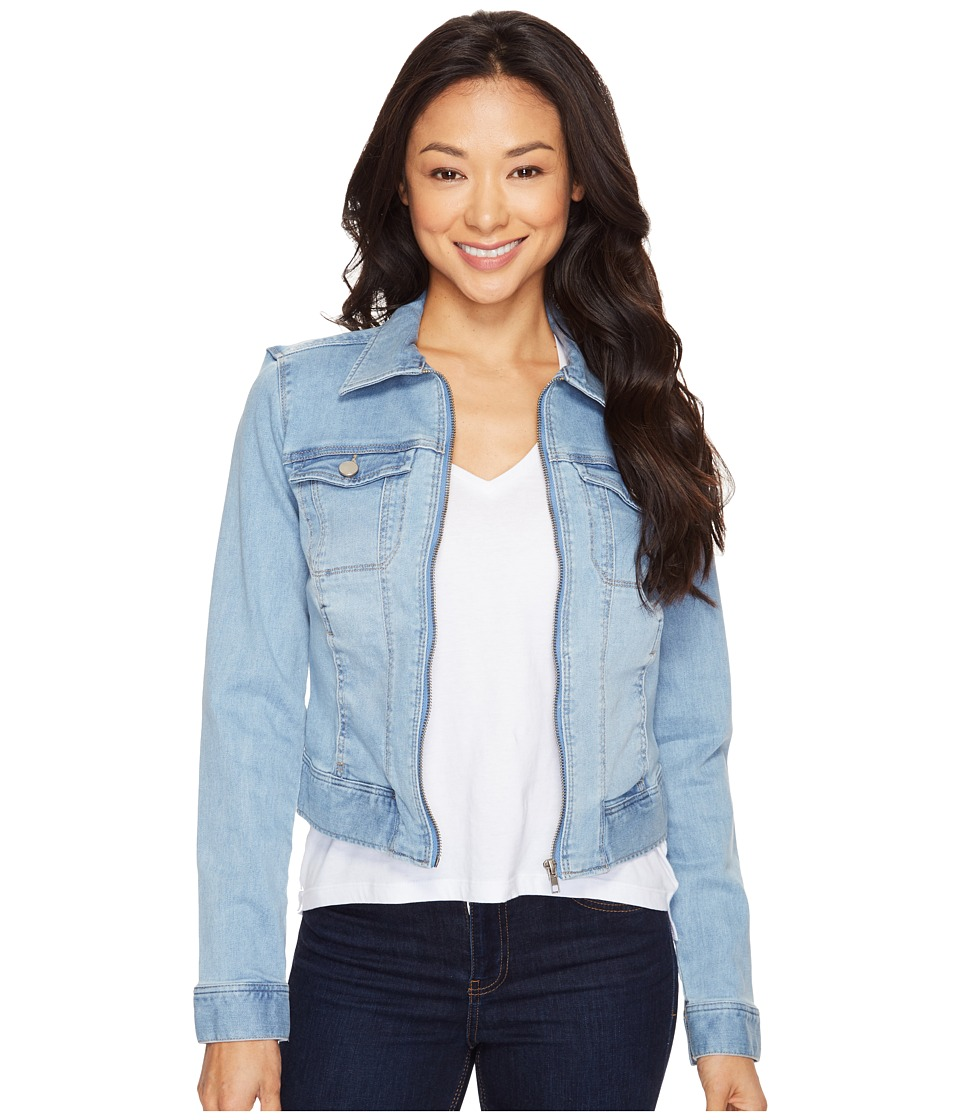 Liverpool - Denim Zip Jacket in Vintage Super Comfort Stretch Denim (Belmont Bleach) Women's Coat