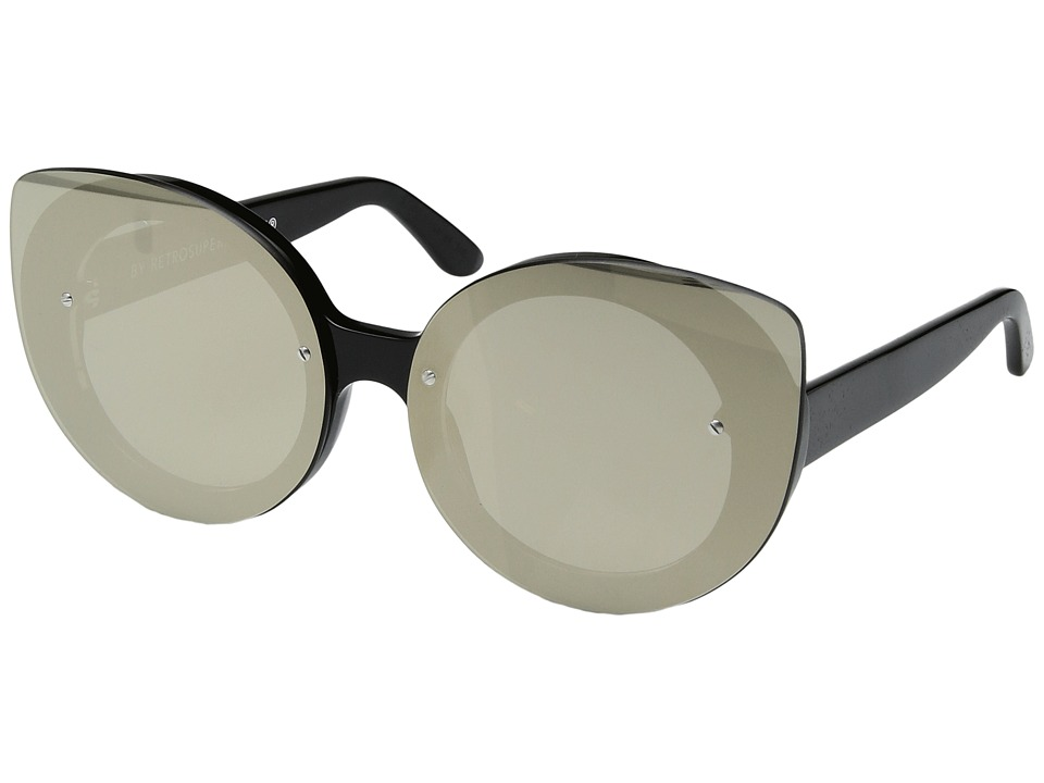 Super - Rita Black Ivory (Black/Ivory) Fashion Sunglasses
