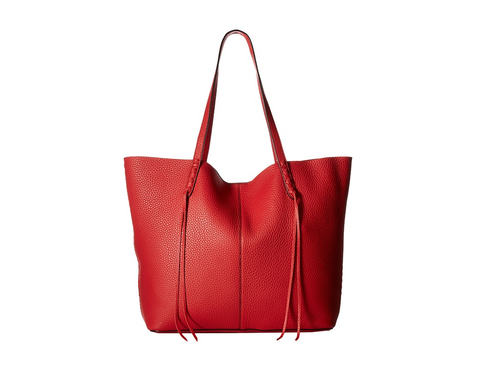Rebecca Minkoff - Medium Unlined Tote with Whipstitch (Blood Orange) Tote Handbags