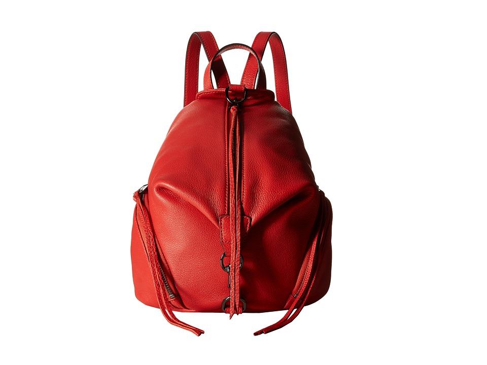 Rebecca Minkoff - Medium Julian Backpack (Blood Orange) Backpack Bags