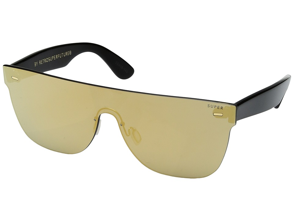 Super - Screen Flat Top Gold (Gold/Black) Fashion Sunglasses