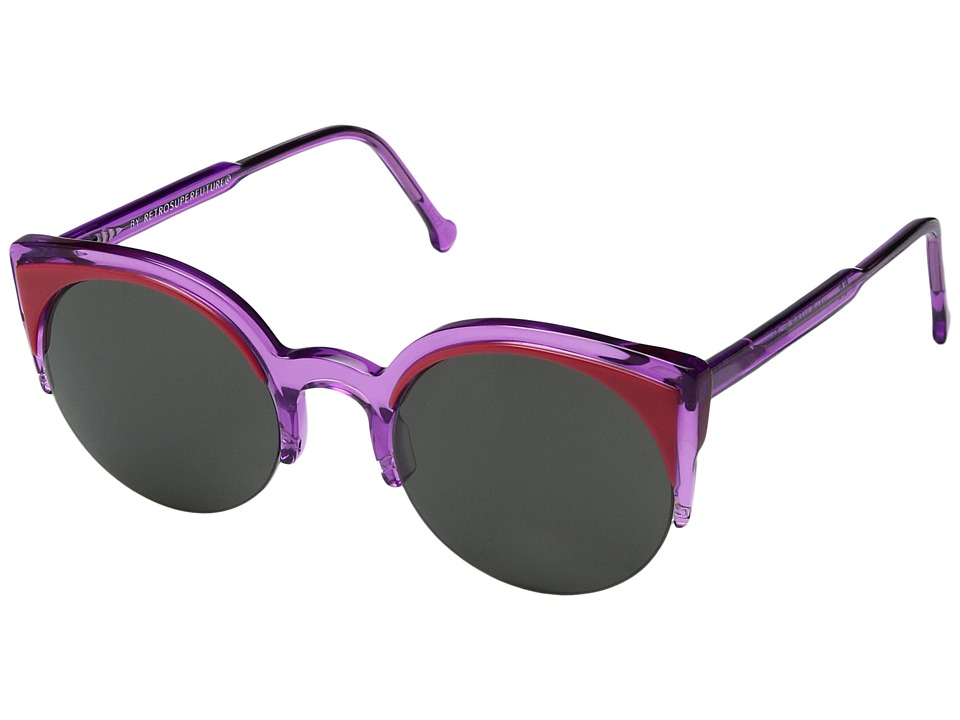 Super - Lucia Surface Uva (Purple) Fashion Sunglasses