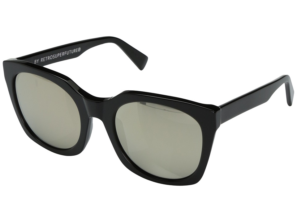 Super - Quadra 54mm (Black/Ivory) Fashion Sunglasses