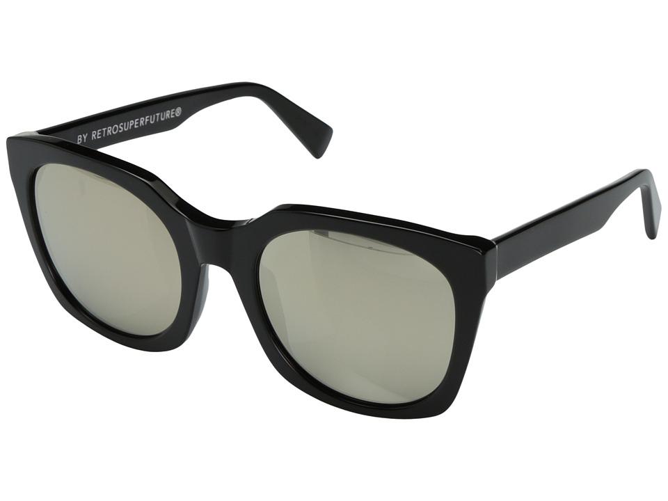 Super - Quadra 54mm (Black/Ivory) Fashion Sunglasses
