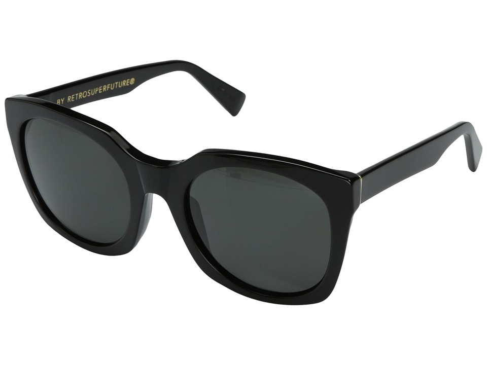 Super - Quadra 54mm (Black/Balck) Fashion Sunglasses