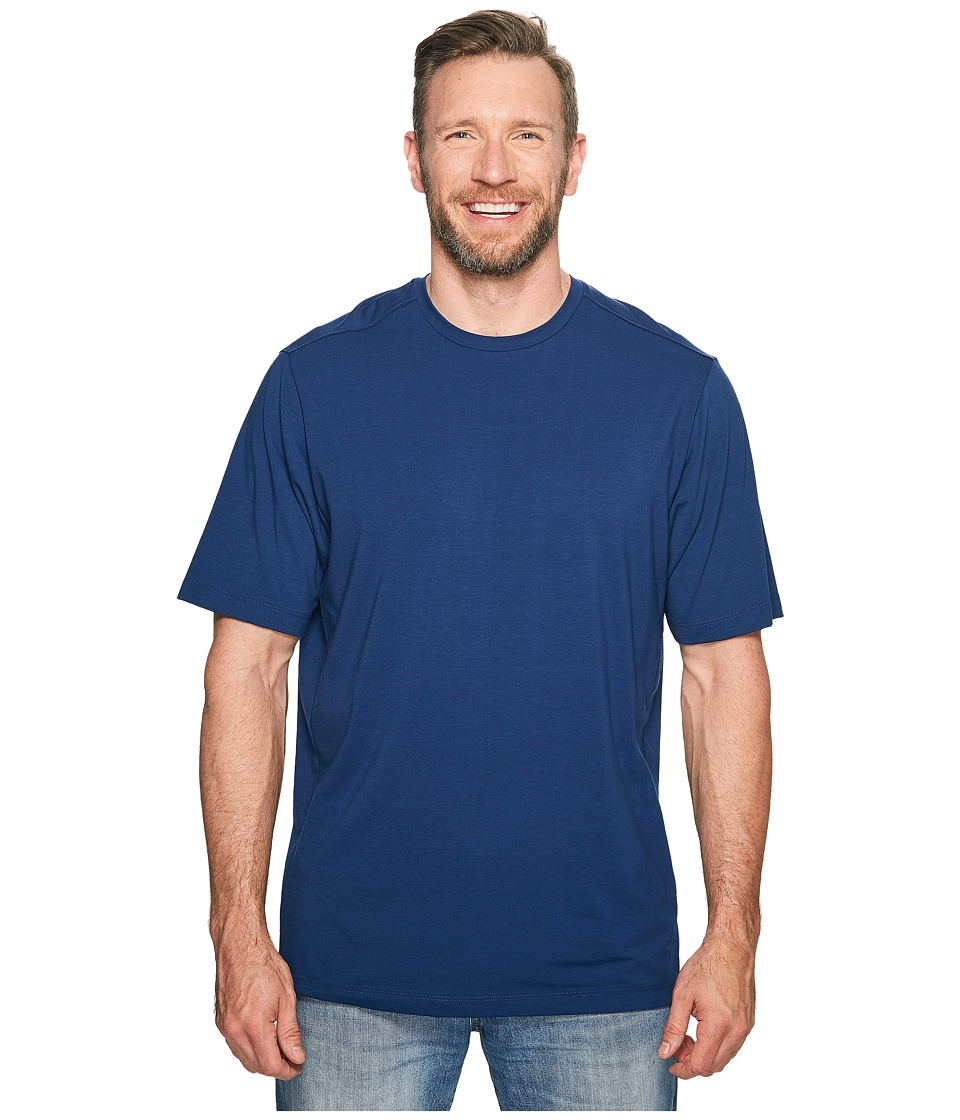 Tommy Bahama Big & Tall - Big Tall Tropicool Tee (Bering Blue) Men's T Shirt