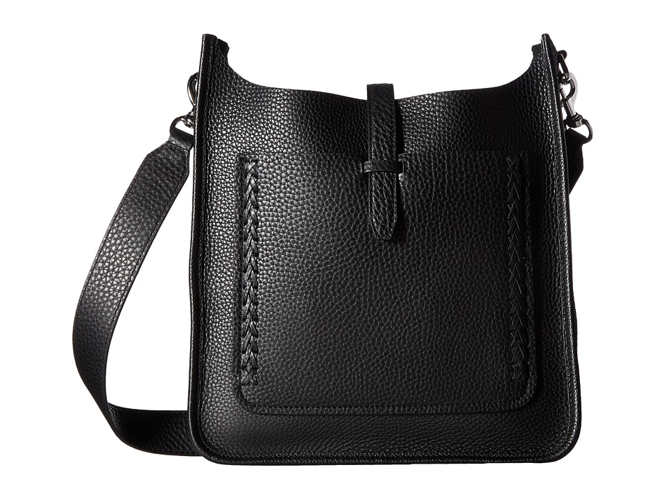 Rebecca Minkoff - Unlined Feed Bag with Whipstitch (Black) Handbags