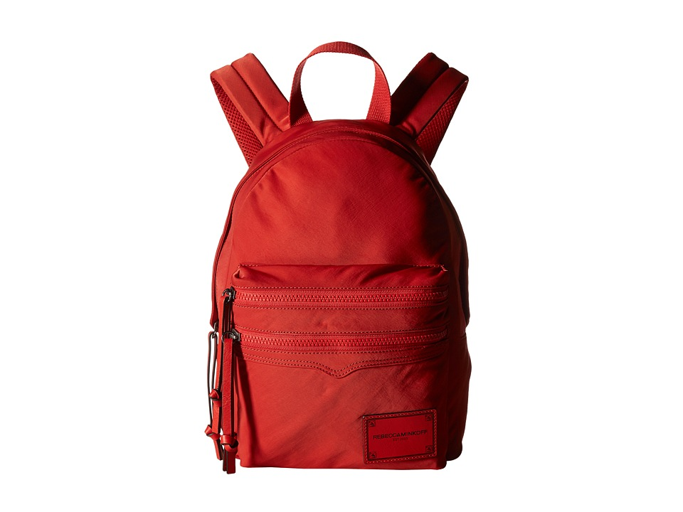 Rebecca Minkoff - Nylon Medium Backpack (Blood Orange) Backpack Bags
