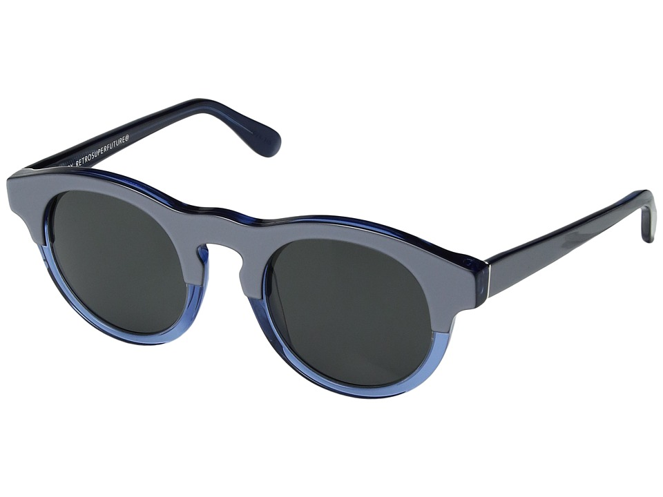 Super - Boy Lamina (Silver/Blue) Fashion Sunglasses