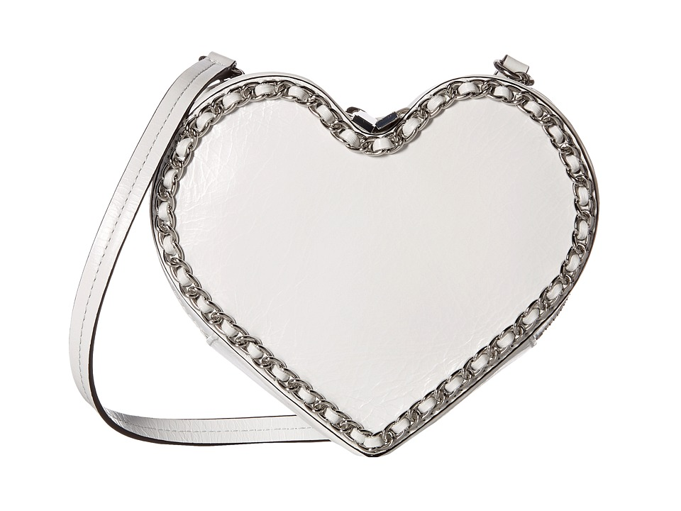 Rebecca Minkoff - Chain Heart Crossbody (Optic White) Cross Body Handbags
