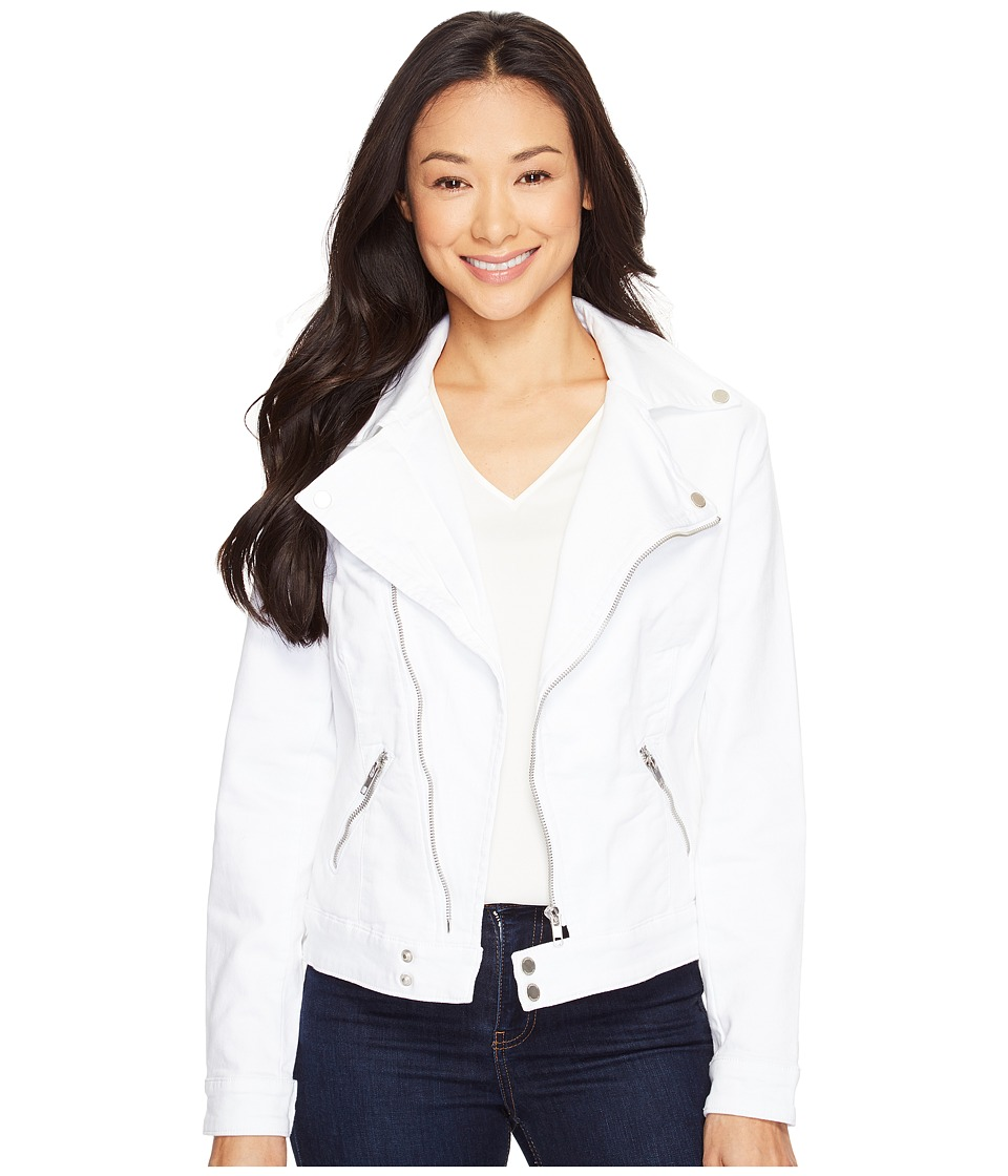 Liverpool - Moto Jacket Powerflex Knit (White) Women's Coat