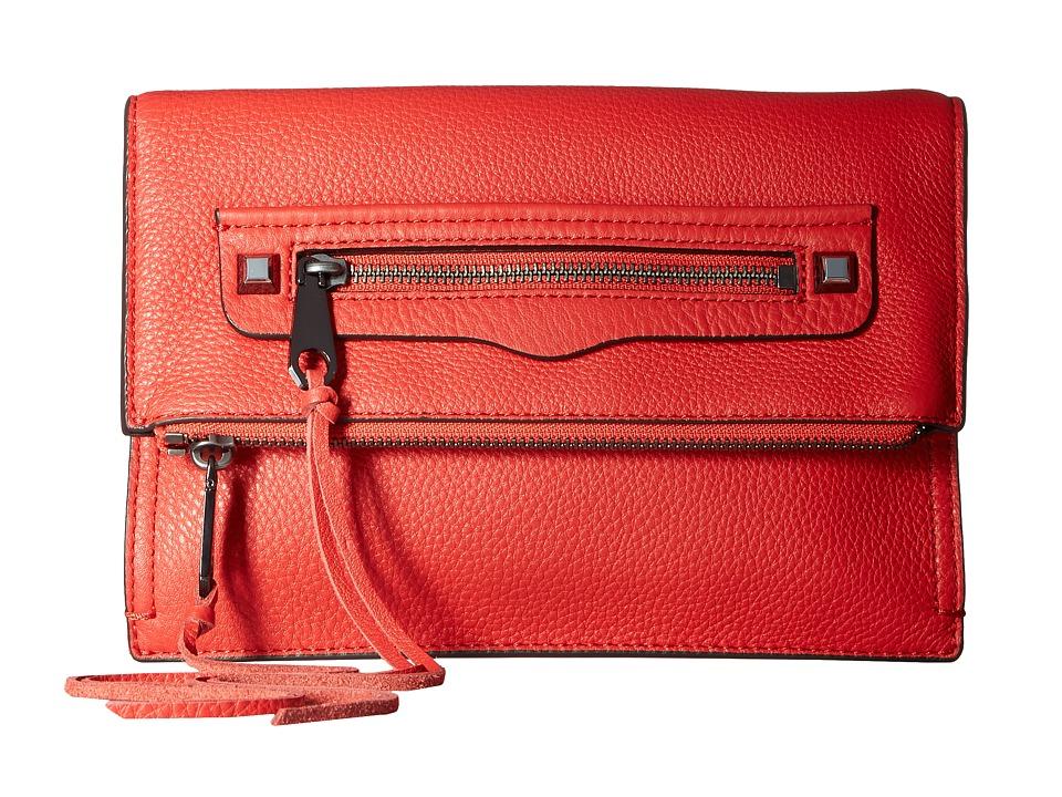 Rebecca Minkoff - Small Regan Clutch (Blood Orange) Clutch Handbags