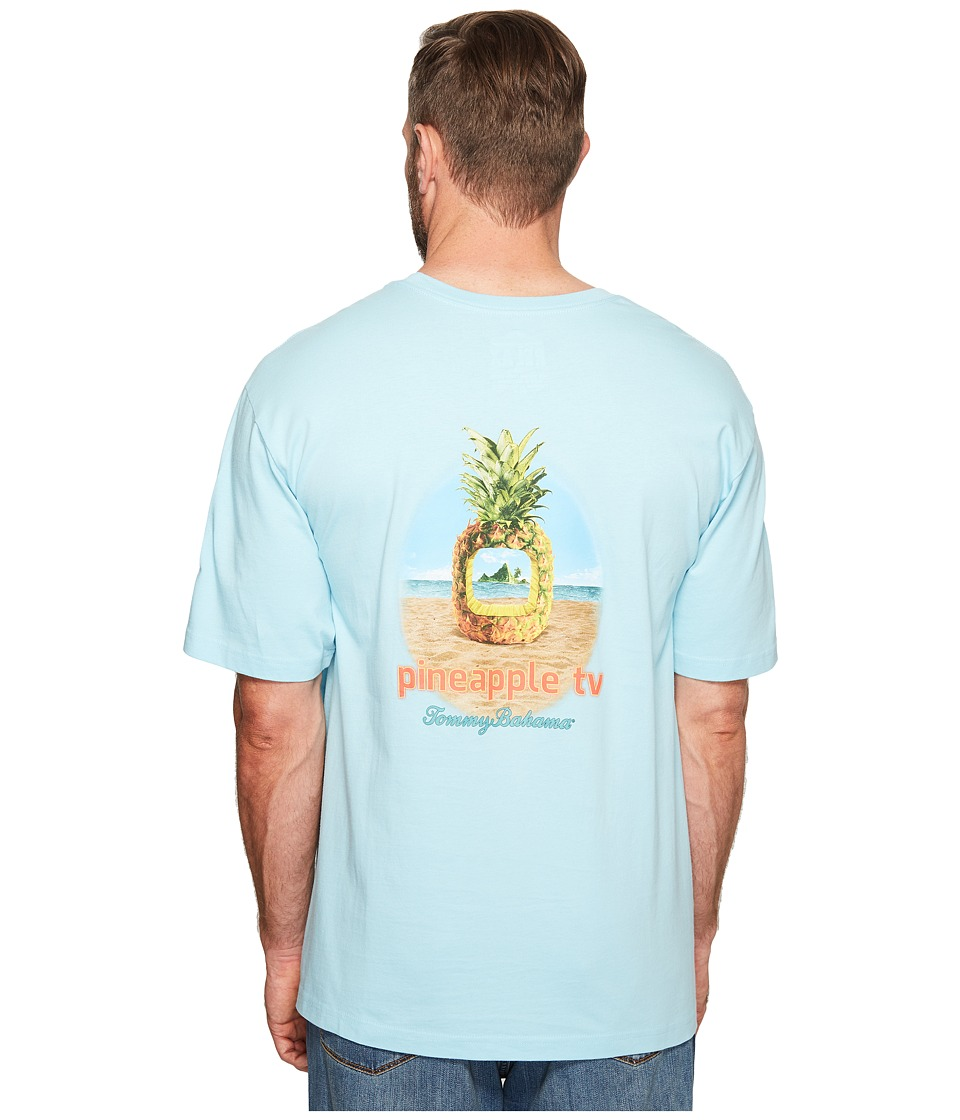 Tommy Bahama Big & Tall - Big Tall Pineapple TV Tee (Graceful Sea) Men's T Shirt