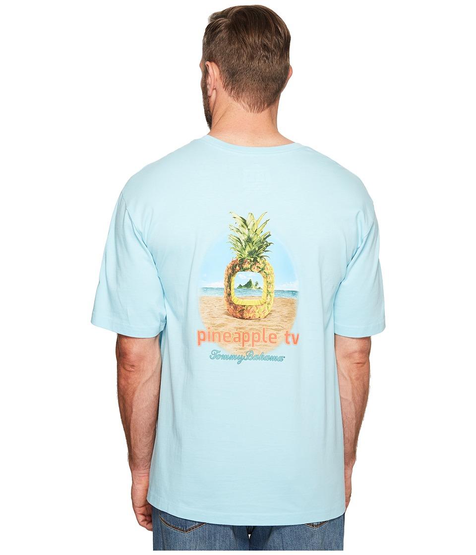 Tommy Bahama Big & Tall Big Tall Pineapple TV Tee (Graceful Sea) Men