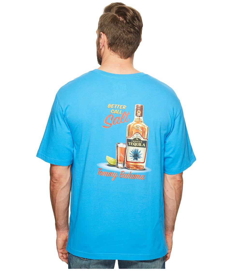 Tommy Bahama Big & Tall - Big Tall Better Call Salt Tee (Download Blue) Men's T Shirt