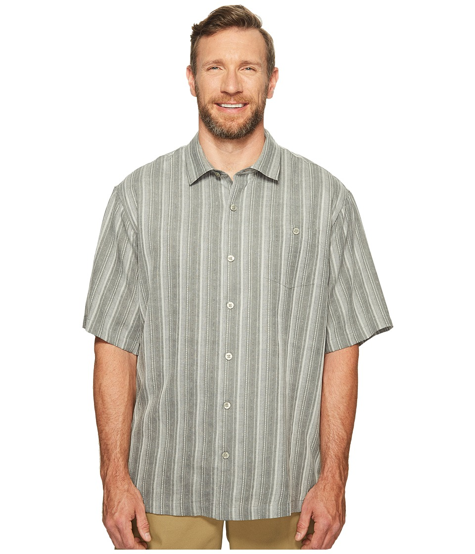 Tommy Bahama Big & Tall - Big Tall Zaldera Stripe (Shadow) Men's Clothing