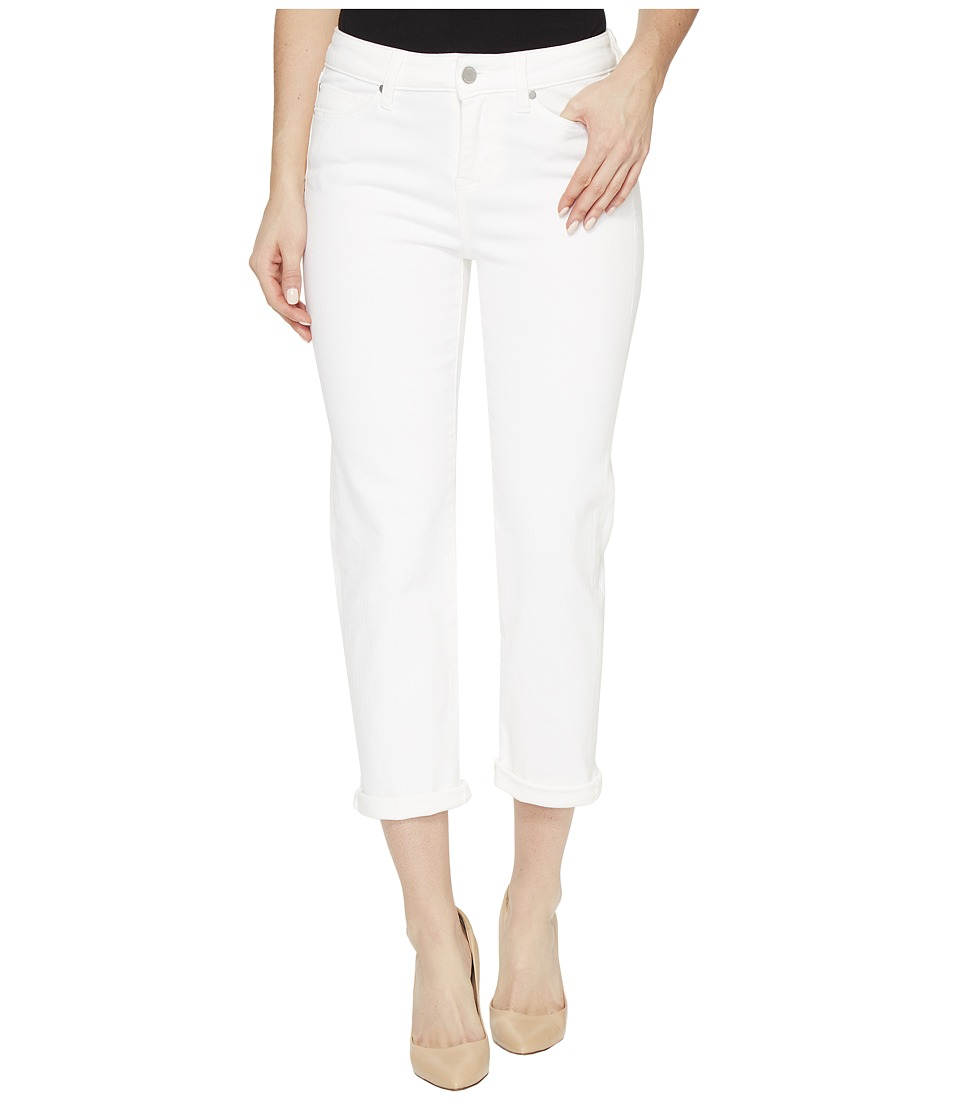 Liverpool Michelle Rolled-Cuff Capris on Super Soft Stretch Denim in Bright White (Bright White) Women