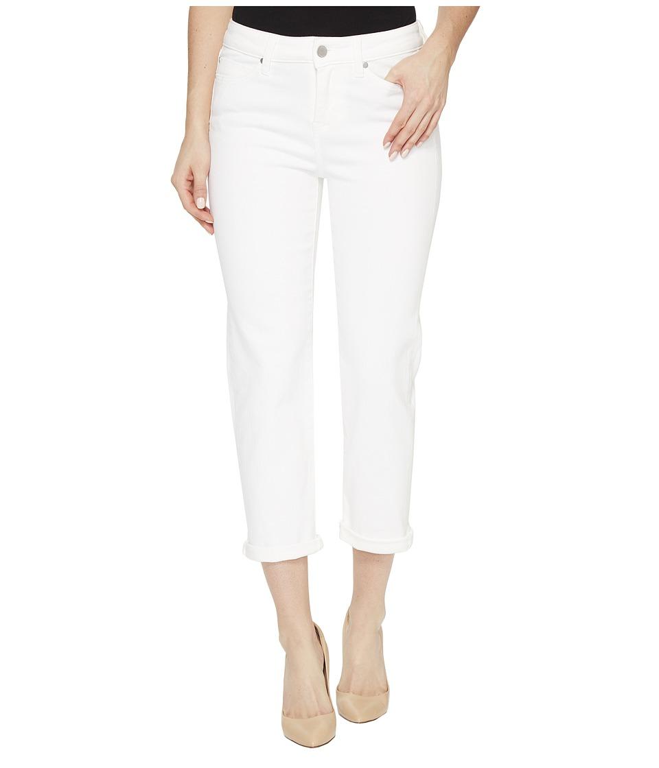 Liverpool Michelle Rolled-Cuff Capris on Super Soft Stretch Denim in Bright White (Bright White) Women