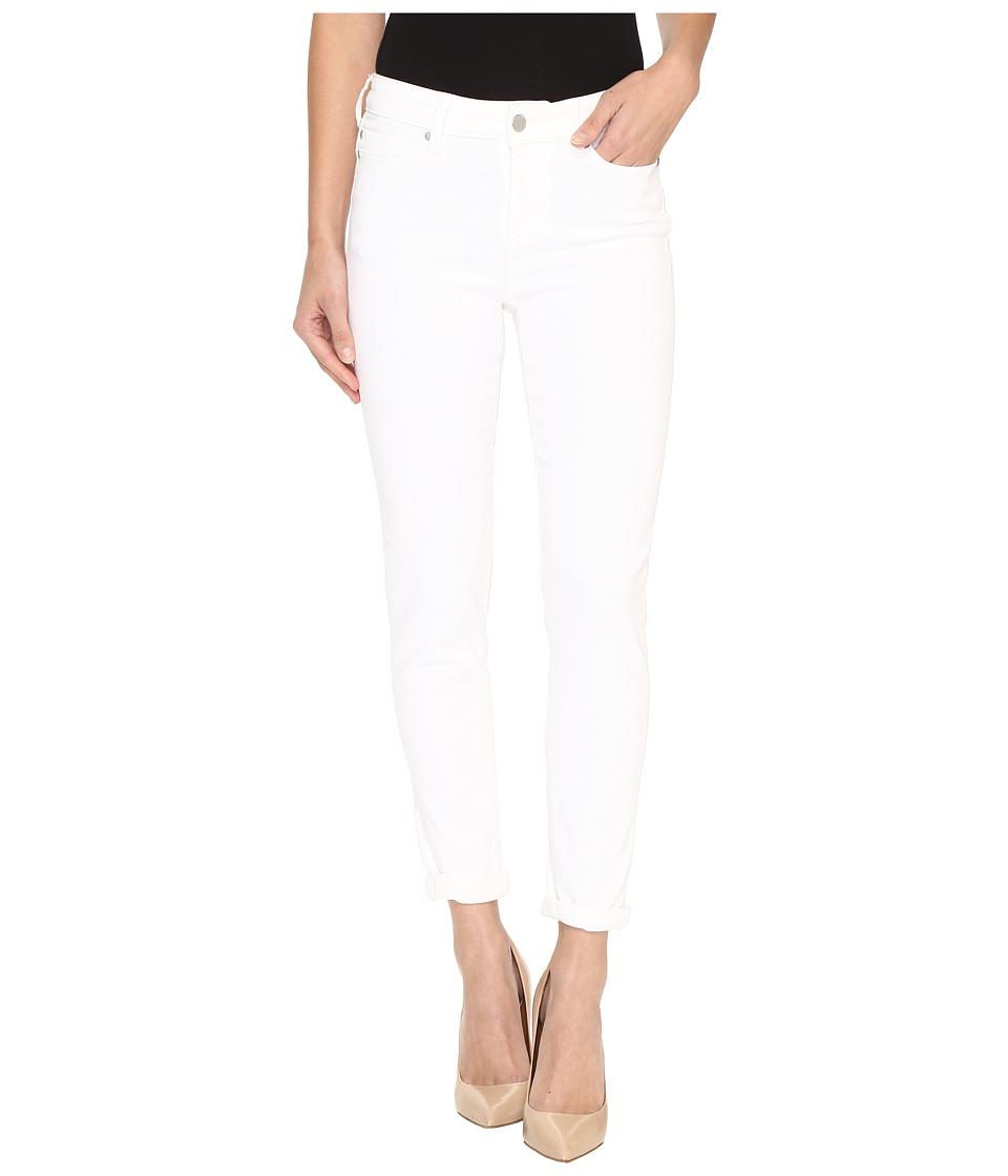 Liverpool - Cami Rolled-Cuff Crop on Super Soft Stretch Denim in Bright White (Bright White) Women's Jeans