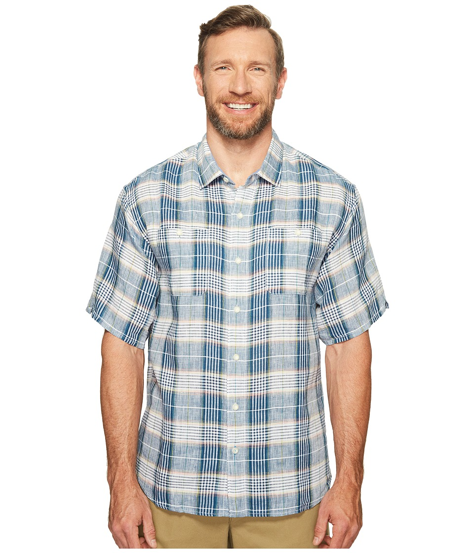 Tommy Bahama Big & Tall - Big Tall Caldera Plaid (Ocean Deep) Men's Clothing