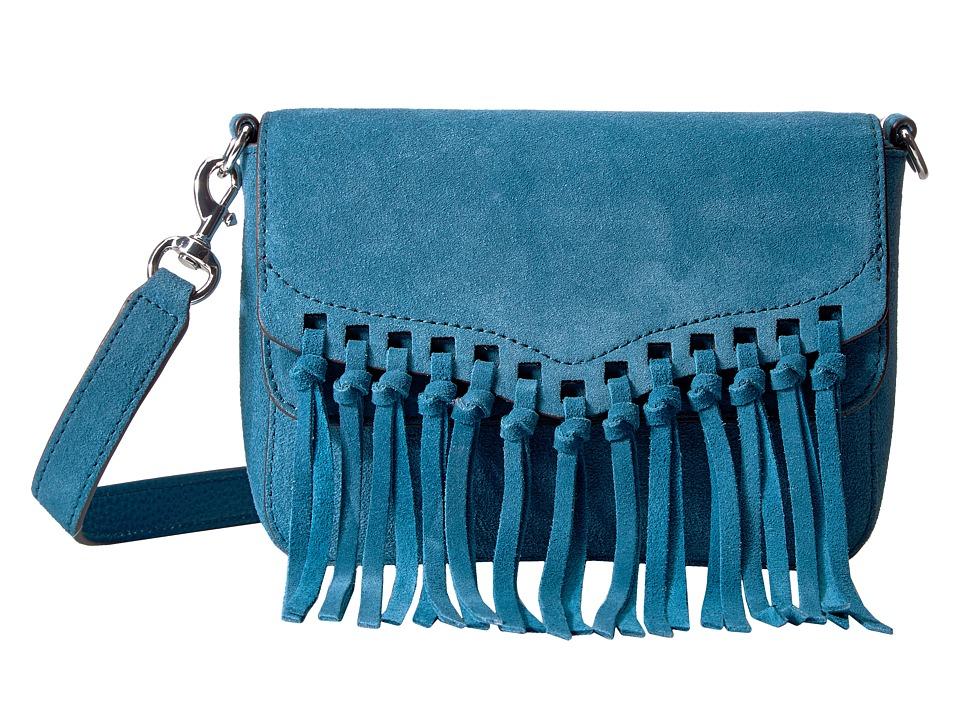 Rebecca Minkoff - Rapture Small Shoulder Bag (Lake Blue) Shoulder Handbags