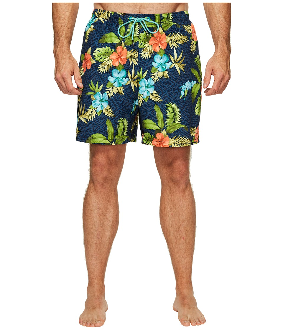 Tommy Bahama Big & Tall - Big Tall Naples Trikala Keys (Ocean Deep) Men's Swimwear