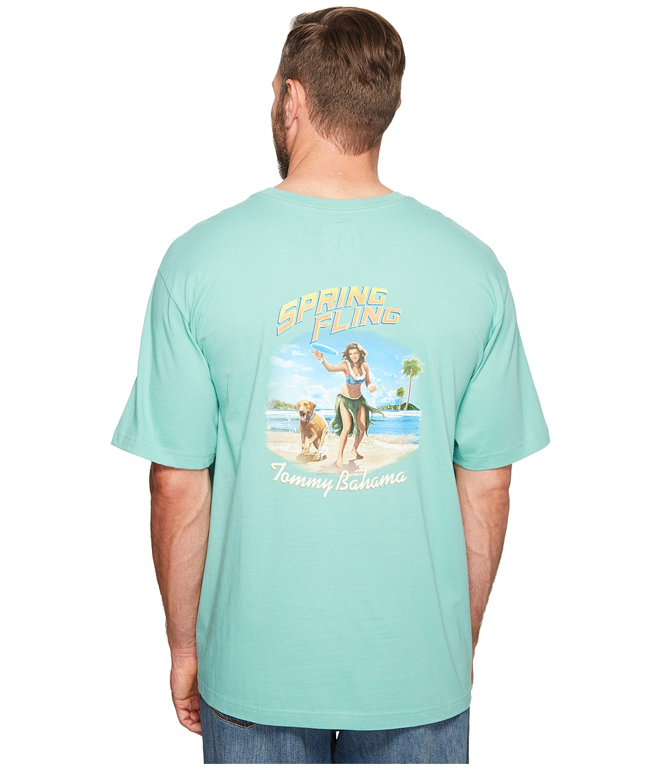 Tommy Bahama Big & Tall - Big Tall Spring Fling Tee (Geiser) Men's T Shirt