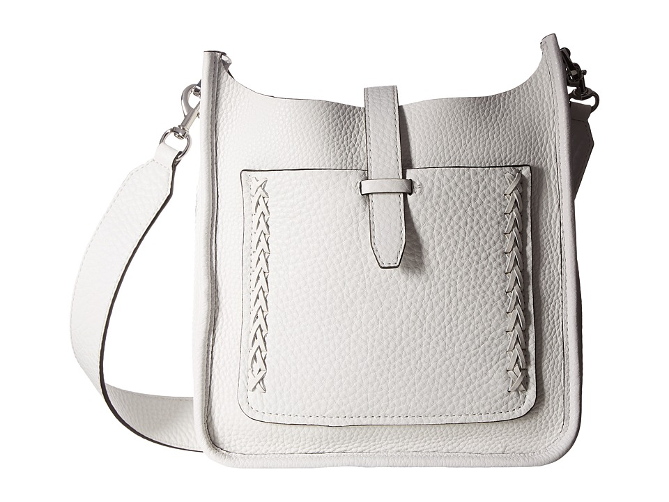 Rebecca Minkoff - Small Unlined Feed Bag with Whipstitch (Optic White) Handbags
