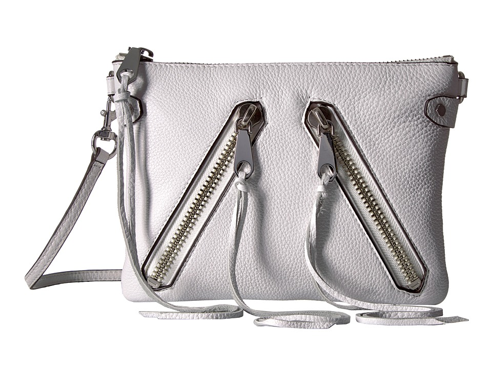 Rebecca Minkoff - Moto Jon Crossbody (Optic White) Cross Body Handbags