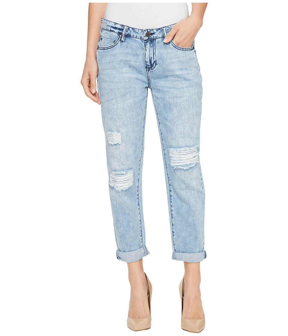 Liverpool - Cameron Cropped Relaxed Boyfriend Soft Rigid Denim in Stockton Destruct (Stockton Destruct) Women's Jeans