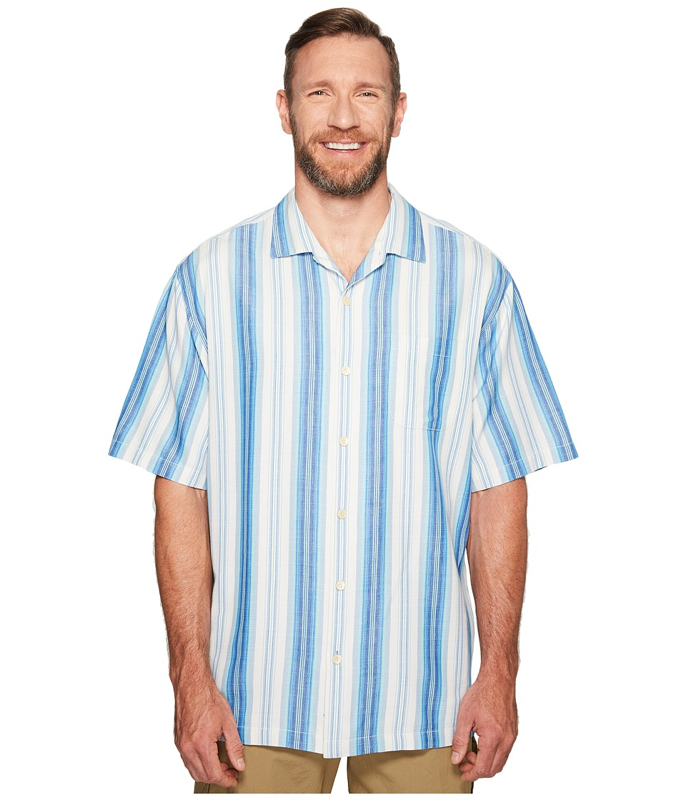 Tommy Bahama Big & Tall - Big Tall Socrates Stripe (Download Blue) Men's Clothing