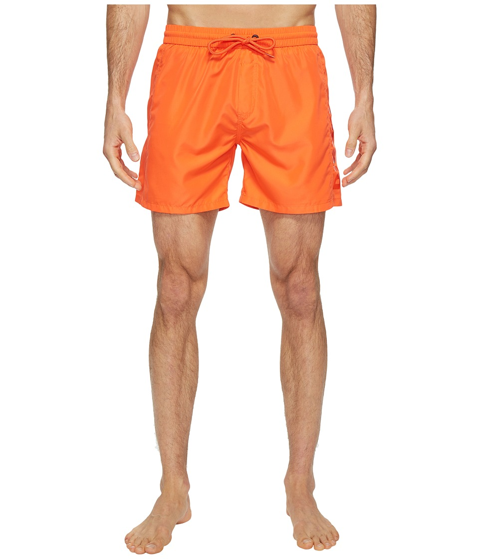 Diesel - Wave FoldGo Quick Dry Light Microfiber 6 in Swim Shorts w/ Diesel Logo KAKV (Tangerine) Men's Swimwear