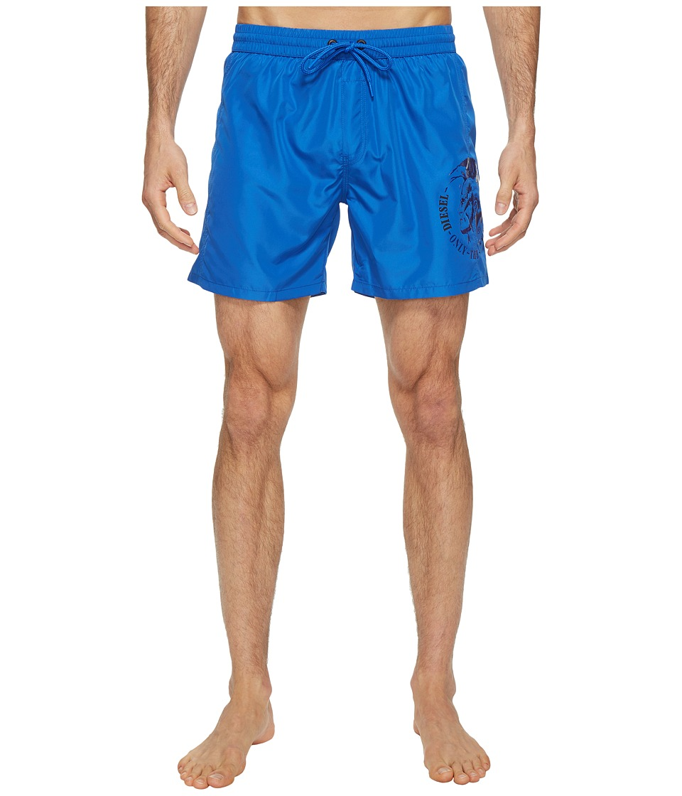 Diesel Sandy Quick Dry Light Microfiber 6 inch Swim Shorts w/ Mohican Head Graphic WAKV (Ocean) Men