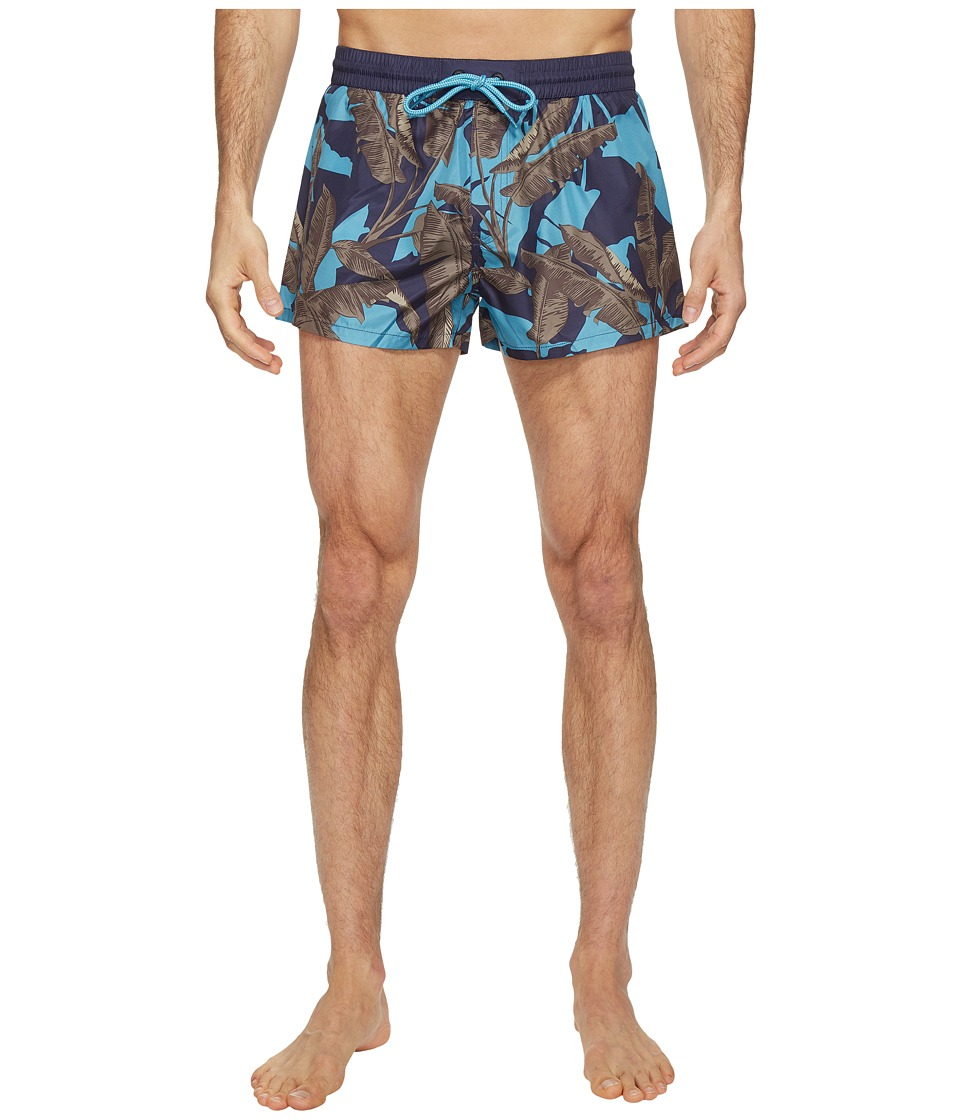 Diesel - Sandy Leaf Camo Print 2 inch Swim Boxer LANU (Blue/Multi) Men's Swimwear