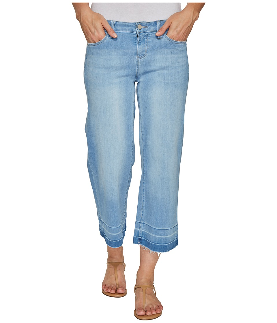 Liverpool - Layla Wide Leg Crop with Released Hem on Silky Soft Denim in Delton Light (Delton Light) Women's Jeans