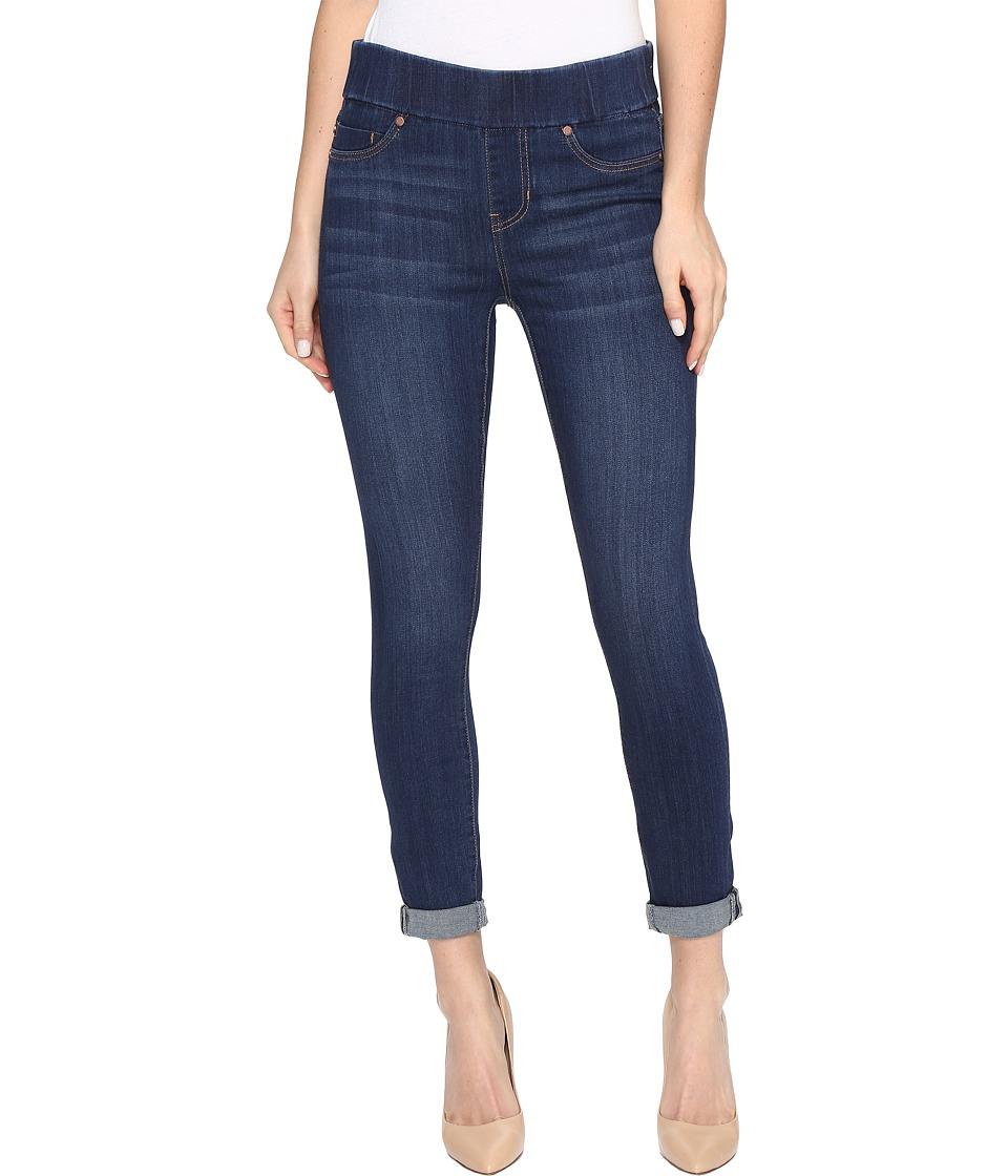 Liverpool - Sienna Pull-On Rolled-Cuff Crop in Silky Soft Denim in Elysian Dark (Elysian Dark) Women's Jeans