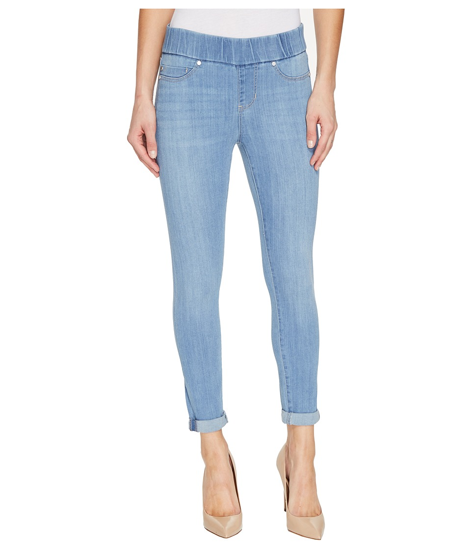 Liverpool - Sienna Pull-On Rolled-Cuff Crop in Silky Soft Denim in Normandie Light (Normandie Light) Women's Jeans