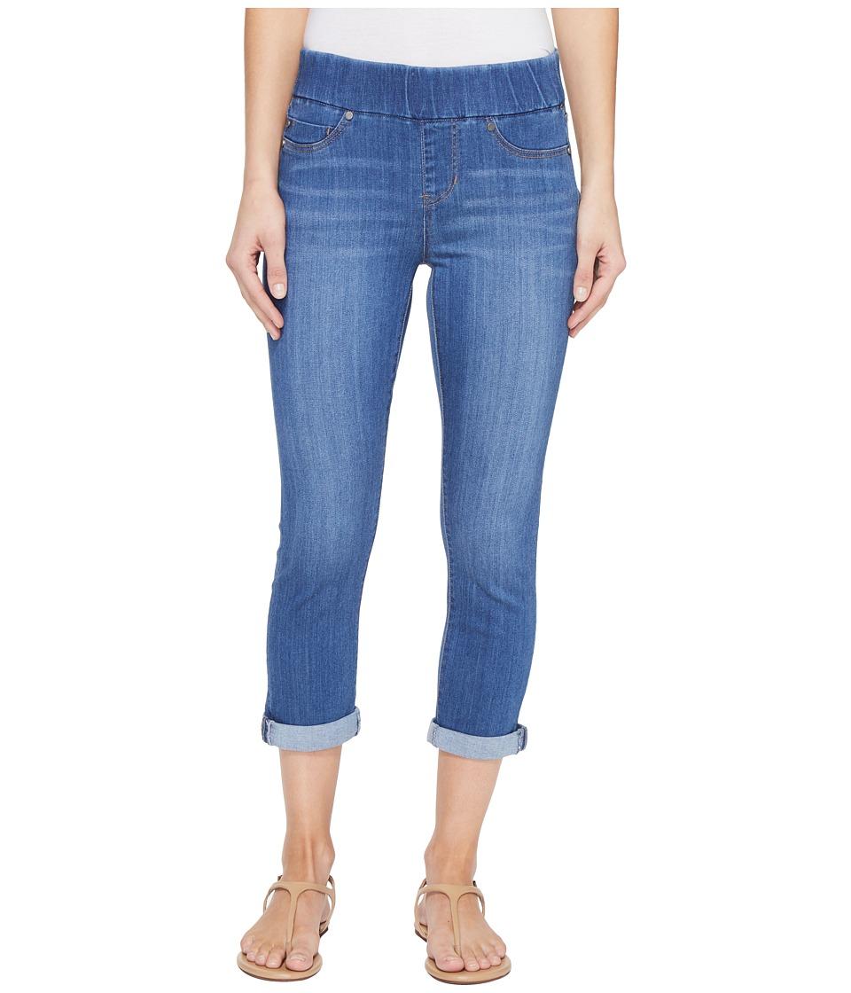 Liverpool - Sienna Pull-On Rolled-Cuff Capris in Silky Soft Denim in Coronado Mid (Coronado Mid) Women's Jeans