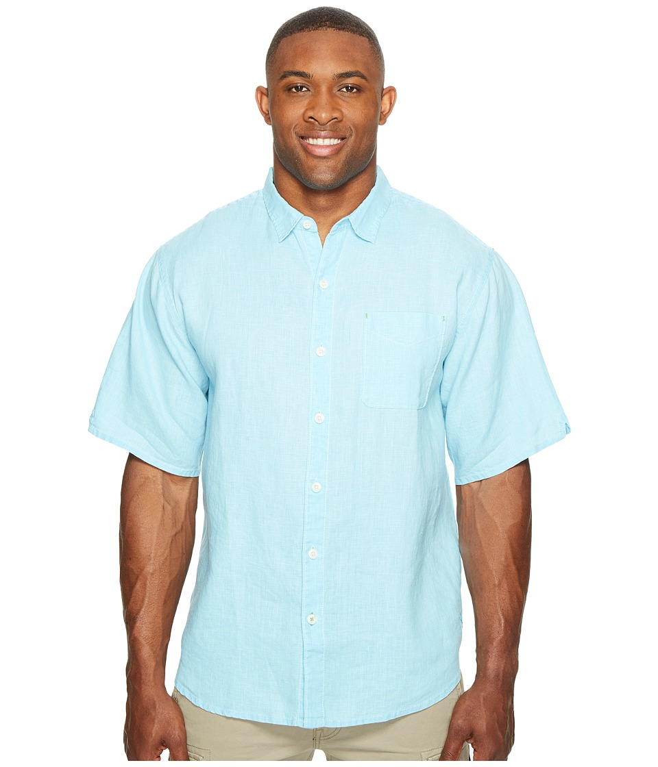 Tommy Bahama Big & Tall - Big Tall New S/S Sea Glass Breezer Camp Shirt (Dark Tile) Men's Short Sleeve Button Up