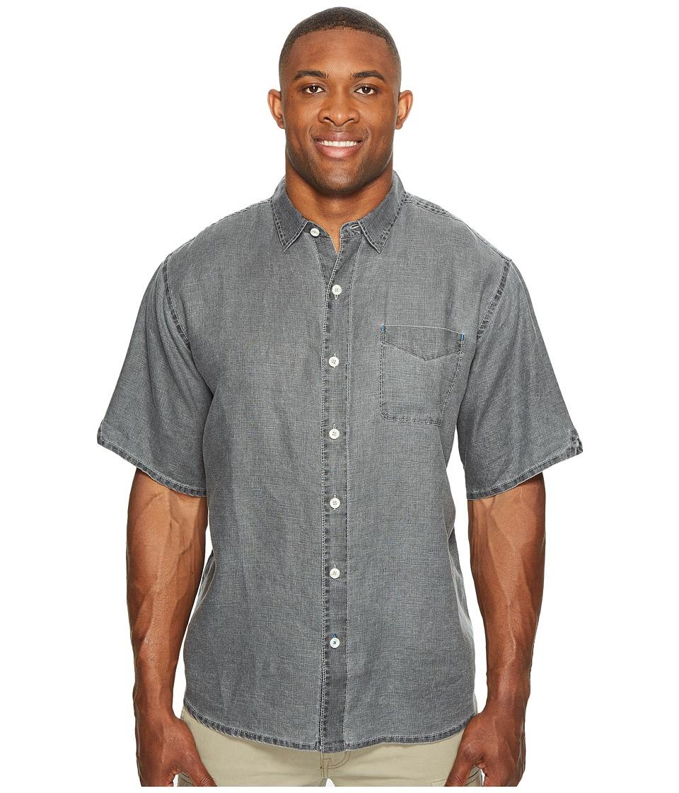 Tommy Bahama Big & Tall - Big Tall New S/S Sea Glass Breezer Camp Shirt (Coal) Men's Short Sleeve Button Up