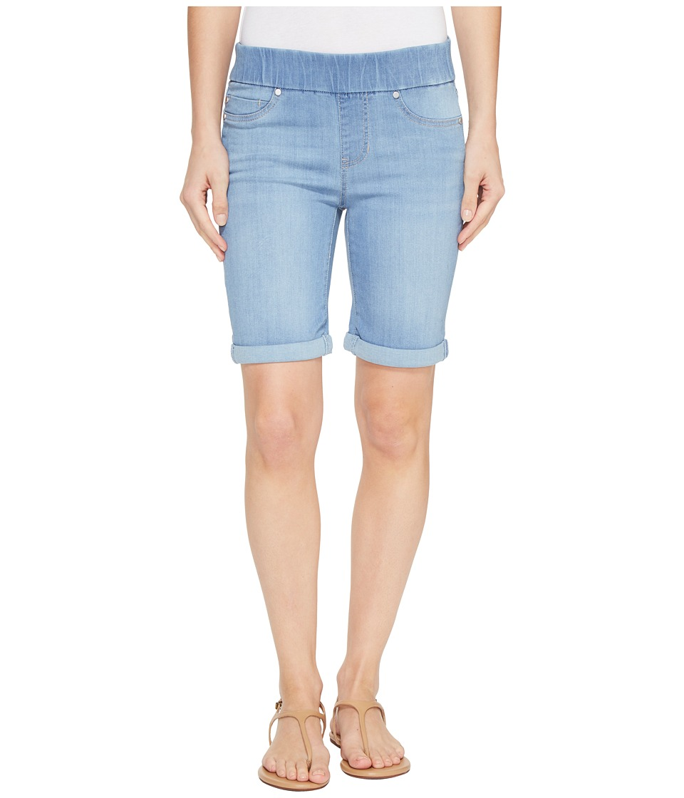 Liverpool - Sienna Pull-On Rolled-Cuff Bermuda in Silky Soft Denim in Normandie Light (Normandie Light) Women's Shorts